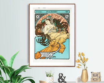 Dawn Alphonse Alfons Mucha Nude Reproduction Art Nouveau Deco Poster Print NEW