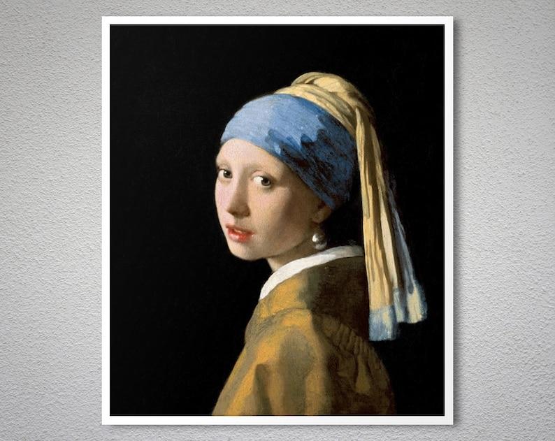 Mädchen Mit Dem Perlenohrring Von Johannes Vermeer 1665 Etsy