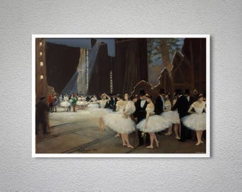 Backstage at the Opera by Jean Beraud Fine Art Print - Poster Paper,Sticker, Canvas Print / Gift Idea