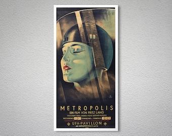 Metropolis Vintage Movie Poster - Poster, Sticker or Canvas Print / Gift Idea
