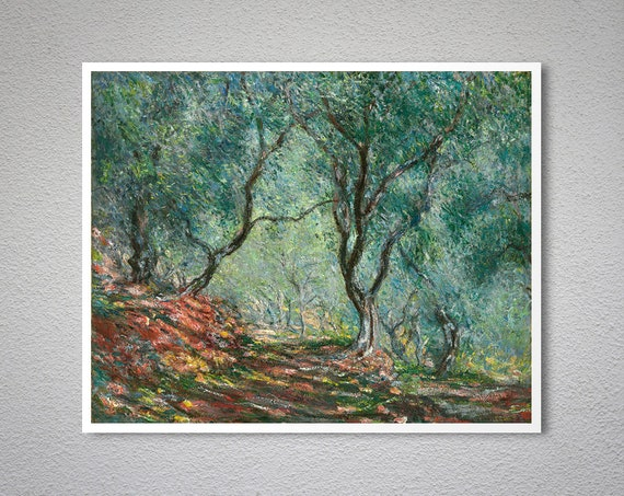 Olive Grove in the Moreno Garden by Claude Monet Poster | Etsy