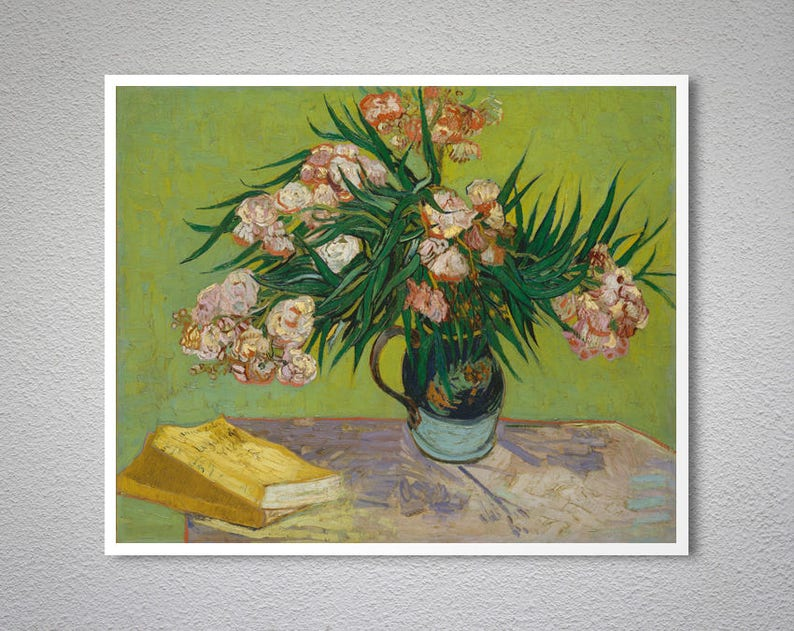 """OLEANDERS BY VINCENT VAN GOGH POSTER    LARGE 24/"""" X 36/""""   NEW"""
