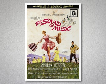 The Sound of Music Movie Poster - Julie Andrews, Christopher Plummer - Poster Paper, Sticker or Canvas Print / Gift Idea