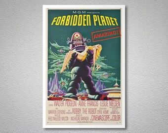 Forbidden Planet Movie Poster - Poster Paper, Sticker or Canvas Print / Gift Idea