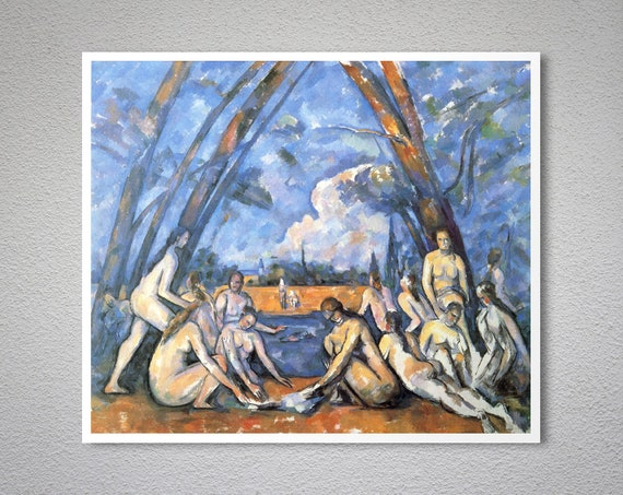 Paul Cezanne French The Large Bathers Canvas Art Print Poster