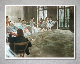 Rehearsal in the Studio by Edgar Degas - Art Print - Poster Paper, Sticker or Canvas Print / Gift Idea