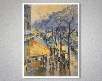Cafe d'Angleterre, France by Konstantin A. Korovin -  Poster Paper, Sticker or Canvas Print / Gift Idea