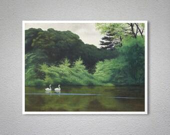 L'Ile Du Lac Saint-James, 1922 by Felix Vallotton - Poster Paper, Sticker or Canvas Print / Gift Idea