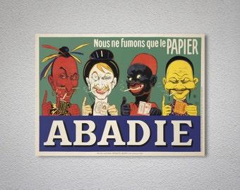 Abadie Papier Vintage Poster - Poster Paper, Sticker or Canvas Print / Gift Idea