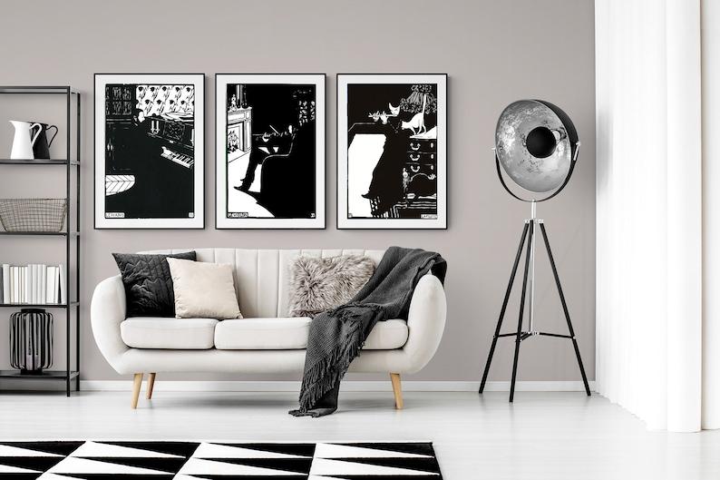 Sticker Felix Vallotton Collection Set of 3 Instruments Fine Art Prints Canvas Print  Gift Idea  Wall Decor Poster Paper