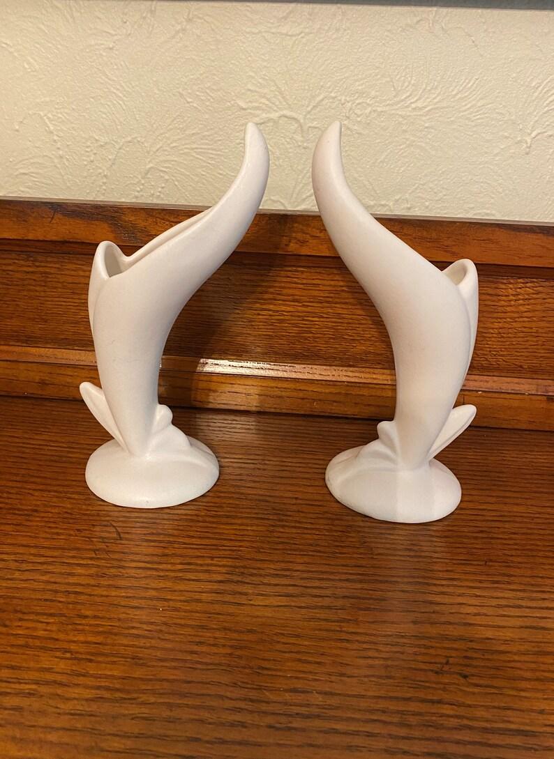Bird of Paradise J Art Nouveau Style Van Briggle Art Pottery Vases