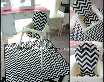 High Chair Mat // High Chair Splash Mat // Art and Craft Mat // No Mess Mat // Spill Splash Mat // You pick the fabric // SAFE NOT OILCLOTH & High chair mat | Etsy