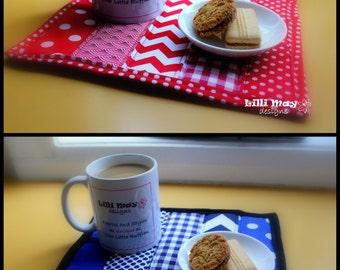 Mug Rug//Place mat//Pot Stand//Oven Glove / Pad//Snack Mat // you PICK THE FABRIC!!