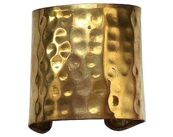 Brass Hammered Cuff