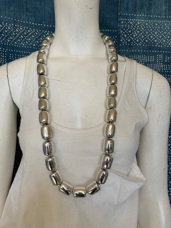 Kenneth J Lane Modernist Silver Vintage  Necklace