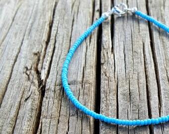 bracelet de cheville turquoise plage surf d'été vacances vacances rocaille perle bijoux