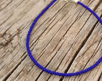 bracelet de cheville bleu cobalt surf lapis océan profond vacances festival vêtements de plage