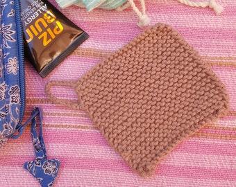 serviette de visage de coton pour les journées chaudes sur la lingette écologique eco tricoté de plage