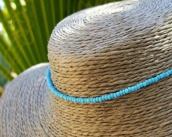tour de cou Turquoise Collier plage boho aqua surf vacances usure