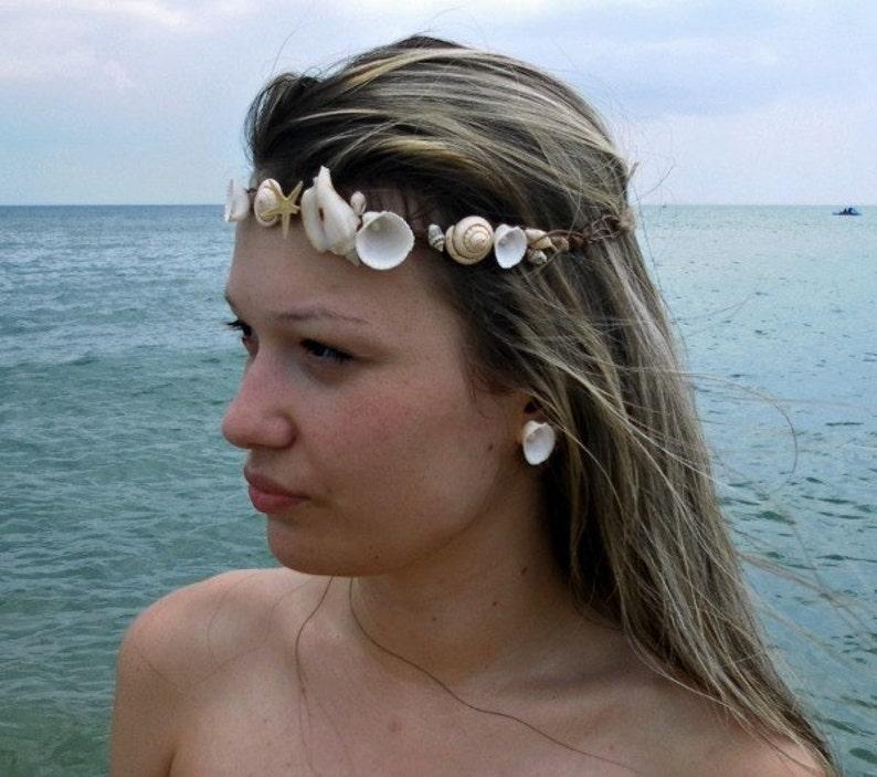 Conchiglie stelle marine lumache spiaggia matrimonio corona  e32469bfc760