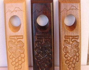 Wine bottle holder , gift from ARMENIA , armenian souvenir gift art, wooden bottle holder, Magic  holder