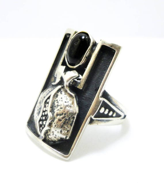 Pomegranate Ring Armenian Jewelry Eastern Ring Hand Made Etsy