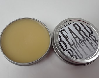 Beard Butter 1.5 oz. Natural Scent Beard Conditioner,  Beard Balm, Bald Head, Stocking Stuffer, Facial Hair, Men's Grooming, Natural Hair,