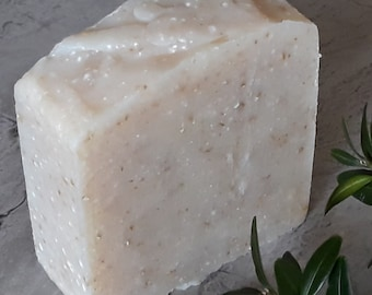 BUY 2, GET 1 FREE!  Oatmeal and Coconut Milk Soap, 4.5 oz, Handcrafted, Safe for Mother and Baby, Sensitive Skin
