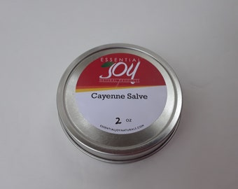 SALE  Cayenne Salve. 2 oz. Herbal Salve.  Arthritis Salve. Soothing. Pain relief.  Muscle rub. Runners Gift