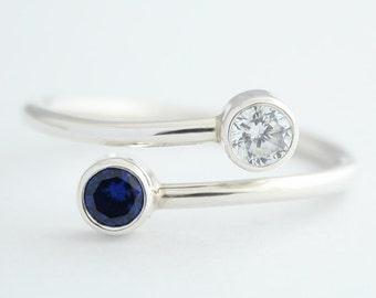 Birthstone Ring, Sterling silver, Personalized ring, Birthstones