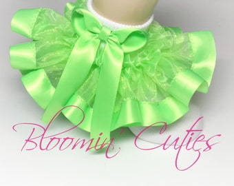 Bright Sunshine Daffodil Yellow Organza Newborn Infant Toddlers and Girls SUPER RUFFLE SOCKS by Bloomin Cuties Boutique