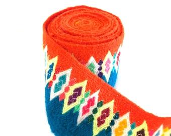 Handwoven handmade vintage ethnic Andean Peruvian tribal boho woven trim  upholstery loom Cuzco  TP11