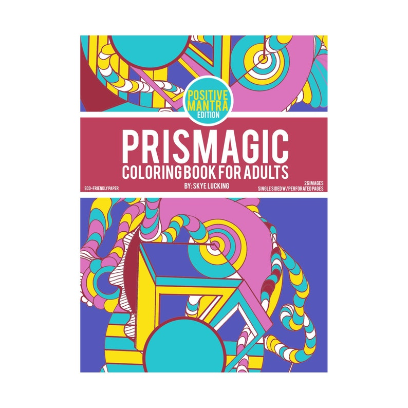 Prismagic  Coloring Book for Adults  Positive Mantra Edition image 0