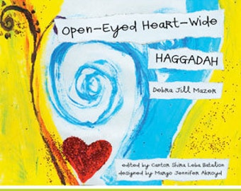 Amazing Vegan/Raw-Friendly Passover Haggadah!  Open-Eyed Heart-Wide Haggadah 100% Eco-Printed Full COLOR ~