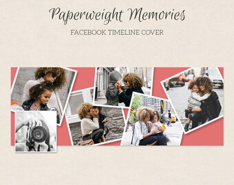 Facebook Timeline Cover - Facebook Timeline Template - PSD Template - Customize Facebook Page - Instant Download - F225