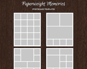 16x20 Photo Storyboard Templates - Photo Collage Template - PSD Template - Resize to 8x10 - For Photographers - Instant Download - S222