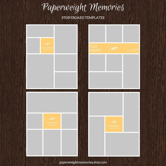 16x20 photo storyboard templates photo collage template etsy. Black Bedroom Furniture Sets. Home Design Ideas