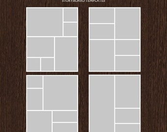 16x20 Photo Storyboard Templates - Photo Collage Template - PSD Template - Resize to 8x10 - For Photographers - Instant Download - S208