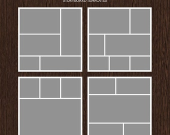 20x20 Photo Storyboard Templates - Photo Collage Template - PSD Template - Resize to 10x10 - For Photographers - Instant Download - S201