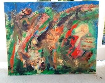 SALE, Original Abstract Art Painting, Abstract Art, Acrylic, Graffiti, Native, Wall Art, Home Decor, Square, 12 x 12