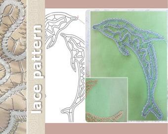 Bobbin Lace Pattern: Dolphins