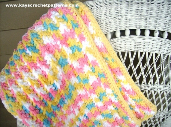 Quick And Easy Crochet Pattern Baby Blanket Instant Digital Etsy