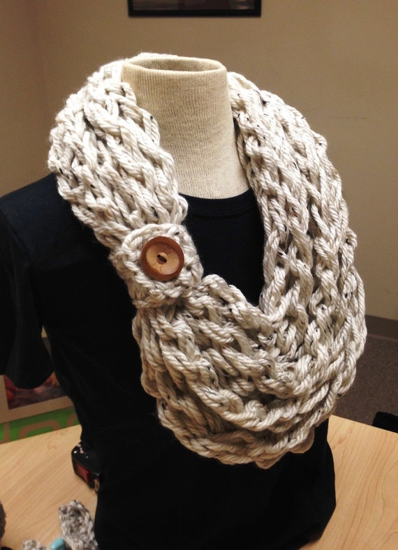 Quick And Easy Crochet Pattern Hand Crochet Bulky Rope Scarf Etsy