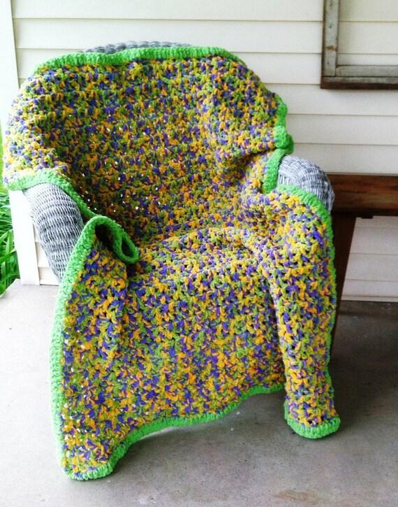 Crochet Pattern For A Quick Easy Crochet Afghan Using Bernat Etsy