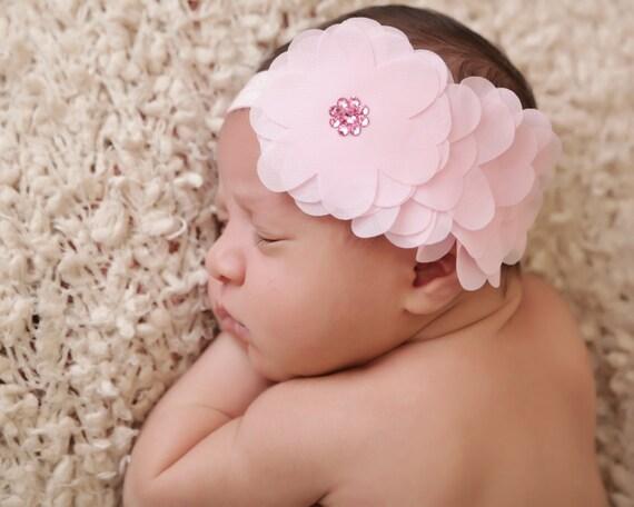 Baby meisje hoofdband swarovski strass hoofdband bloem etsy