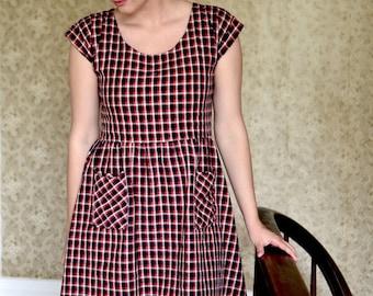 Best Case Scenario Dress  / Simple Dress / Casual Dress / Plaid Dress / Summer Dress / Tunic / Smock Dress for Women / Oversized Dress