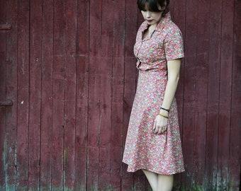 1930's Dress / Vintage Dress / Retro Dress / 1940's Dress / Floral 1930s / 1920's Dress / Summer Dresses for Women / Summer Dress / Cotton