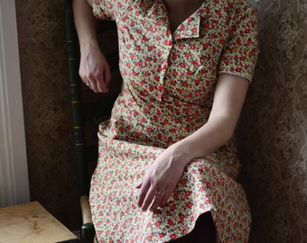 State Fair // Dresses for Women / Floral Dress / Retro Dress / Free Shipping / Dresses with sleeves for women / Cotton Dress / Vintage Dress