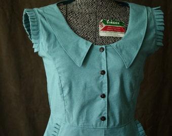 Dress 1930's Dress, Peter Pan Collar Dress, Summer Dresses for Women, Retro Dress, Cute dresses, Vintage Dress, 1930's  sleeveless dress
