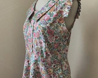 Dress 1930's Dress, Pleated Detail Dress Summer Dresses for Women, Retro Dress, Cute dresses, Vintage Dress, 1930's  sleeveless dress